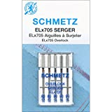 #9: Euro-Notions 1840 ELX705 Serger Needles, Sizes 12/80 (2), 14/90 (3)