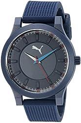 PUMA Unisex PU103312005 Mono Analog Display Quartz Blue Watch