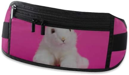 Travel Waist Pack,travel Pocket With Adjustable Belt Toy Cartoon White Rabbit Sits On Running Lumbar Pack For Travel Outdoor Sports Walking