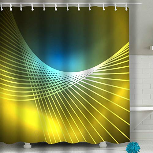 Xunulyn Textile Leisure Traveler Print Fabric Shower Curtain 60