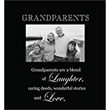 Infusion Gifts 3003-LB Grandparents Engraved Photo Frames, Large, Black