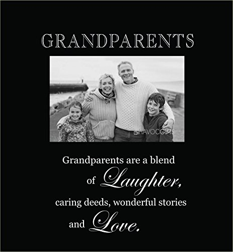 (Infusion Gifts 3003-LB Grandparents Engraved Photo Frames, Large, Black )