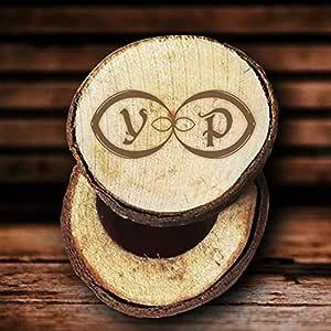 Max345Gall Joyería de Madera Caja de Anillos de Boda Letras de la veta Boda para Pareja: Amazon.es: Hogar