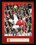 GB Eye Framed Photograph, Manchester United, Rooney Derby Goal, 8x6-inch