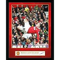 GB Eye Gerahmtes Foto Manchester United, Rooney Derby Tor, 20,3x15,2cm