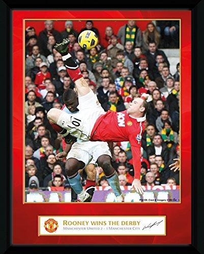 GB Eye Gerahmtes Foto Manchester United, Rooney Derby Tor, 20,3 x 15,2 cm GB eye Ltd PFA100