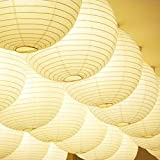 """12 pack 12\"""" Paper Lanterns Lamp Shades Party Supplies - White"""