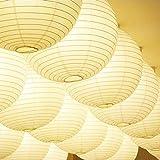 Generic GEN75465 12-Inch Paper Lantern Lamp Shades, White, 12-Pack