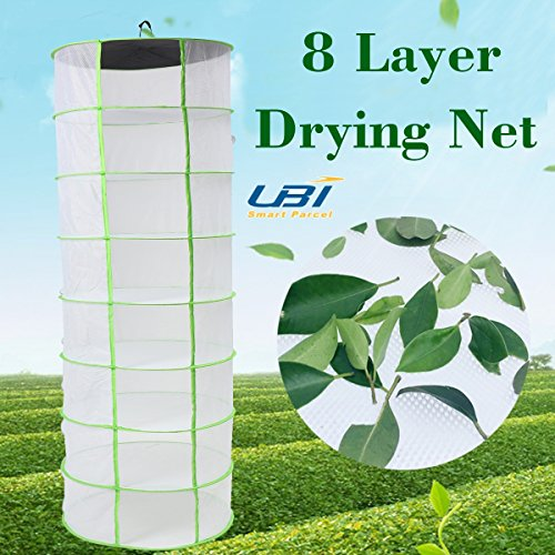 White 2FT 8 Layer Tier Collapsible Hydroponic Plant Grow Han