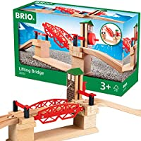 BRIO 33757 Lifting Bridge   Toy Train Accessory with Wooden Track for Kids Age 3 and Up