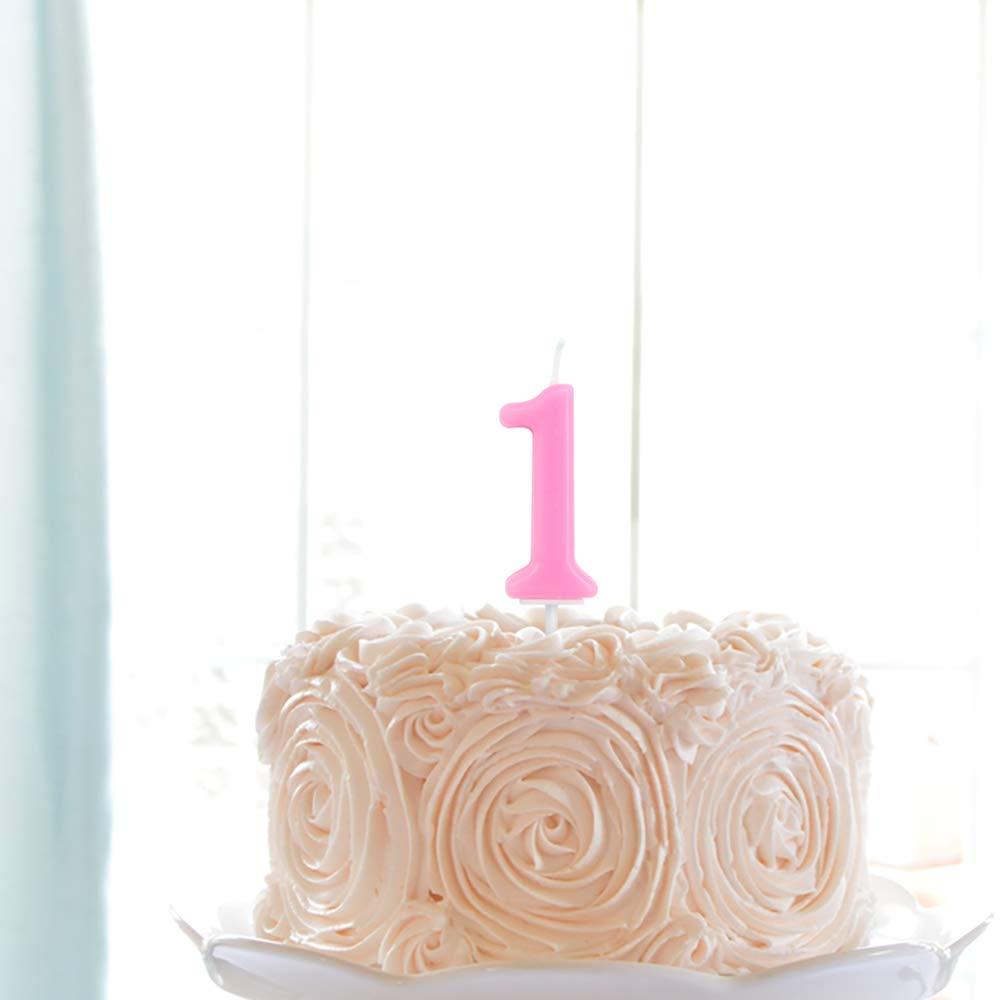 Linda vela de cumpleaños rosa: Amazon.com: Grocery & Gourmet ...