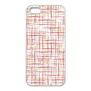 Red simple pattern Phone Case for iPhone 5S(TPU)