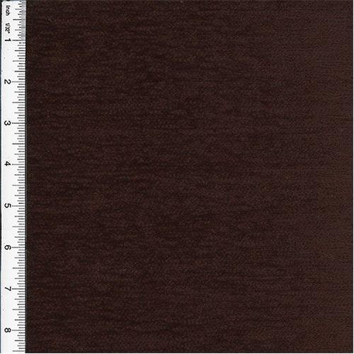 Chenille Veranda Chocolate Brown Home Decorating Fabric, Fabric by The - Chenille Medium Brown Fabric