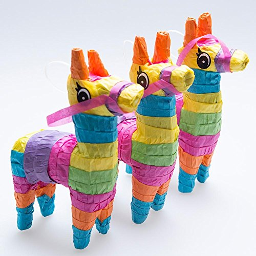 (Rhode Island Novelty 4 x 7 Mini Donkey Pinatas | Set of 3)