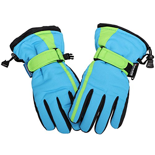 Lullaby Kids Thinsulate Lined Waterproof Ski Snowboard Winter Gloves S