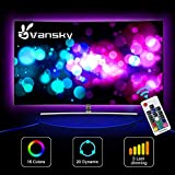 Led Strip lights,Vansky Bias Lighting for 40-60 inch HDTV 6.6ft RGB USB Powered LED Light Strip with RF Remote,TV Backlight Kit for Flat Screen TV,PC