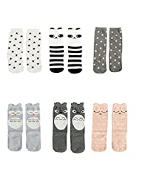 Lucky staryuan ® Cyber Monday 6Pairs Baby Knee High Stockings Tube Socks