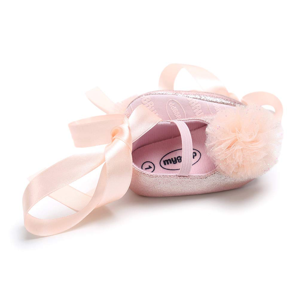 Lurryly❤Newborn Baby Flower Bandage Princess Soft Prewalker Anti-Slip First Walkers Shoes