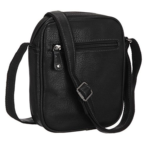 David jones-Bolso bandolera para hombre, color blanco, 24 cm, color negro