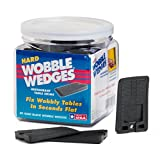 Wobble Wedge - Hard Black - Restaurant Table Shims - 30 Piece Jar