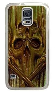 Green Skulls Custom Samsung Galaxy S5/Samsung S5 Case Cover Polycarbonate Transparent