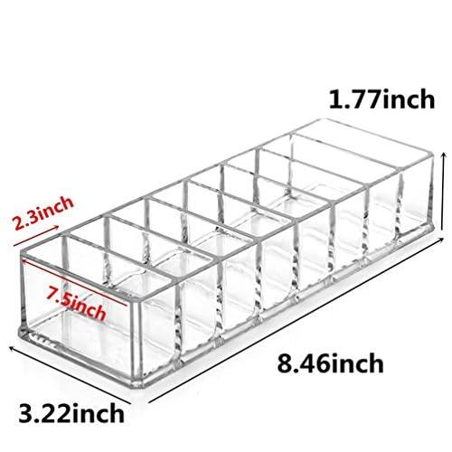 c71ab8fcd770 Weiai Cosmetic Organizer Acrylic Blusher Display Case, 8 Compartment ...
