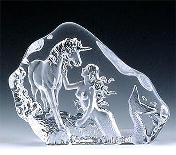 VG Engraved Lead Crystal – Mermaid Unicorn