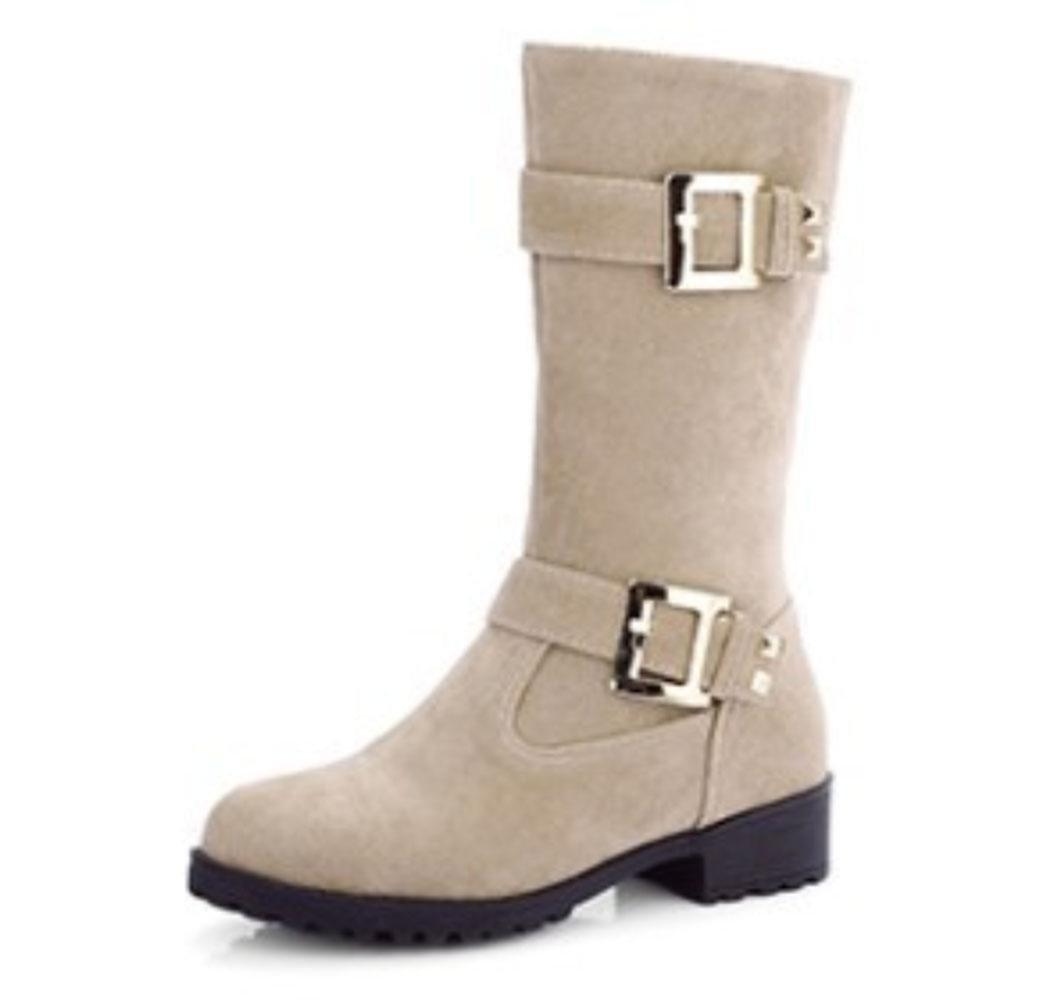 KUKI oto?o y invierno mujeres botas botas cintur¨®n mujer botas de gran tama?o botas mujer botas , white , US8.5/ EU40 / UK6.5/ CN40 US8.5/ EU40 / UK6.5/ CN40 white
