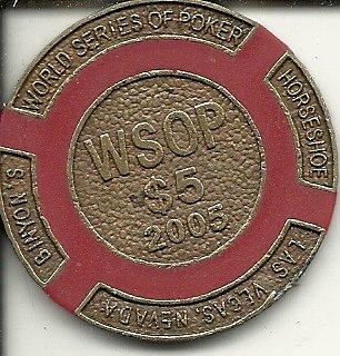 $5 world series of poker binions horseshoe club las vegas casino chip vintage
