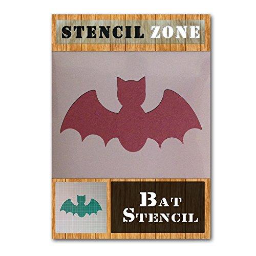Bat Halloween Mylar Painting Pumpkin Wall Art Stencil six (A3 Size Stencil - Medium) ()