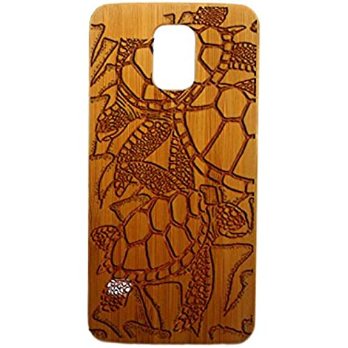 Sea Turtles, Galaxy S7, S6, S6e, S5, S4, Laser Engraved Genuine Wood Case (S4 Bamboo) Sales