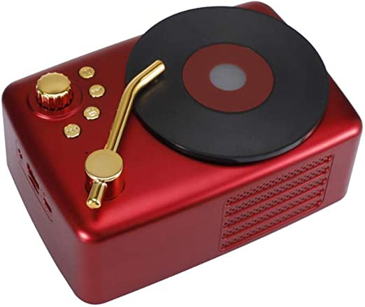 DGYAN Retro Bluetooth Altavoz Radio FM Micrófono Portátil Manos Libres Al Aire Libre inalámbrico Bluetooth Altavoz Estéreo: Amazon.es: Jardín