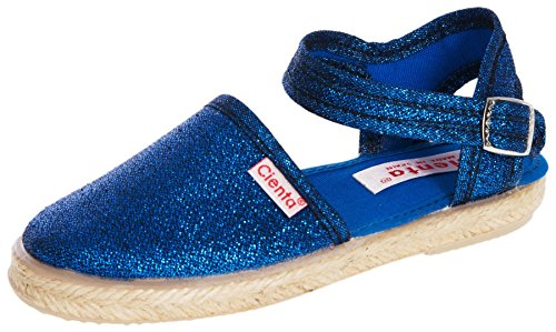 Cienta Girl's Toddler Shiny Espadrille Shoe Flats Blue 25 - Girls Espadrilles