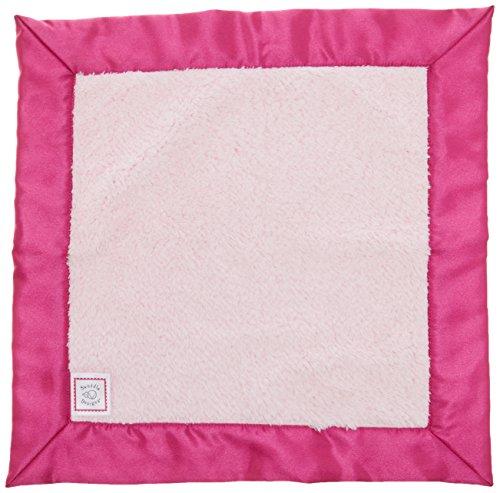SwaddleDesigns Baby Lovie, Small Security Blanket, Cozy Microfleece with Satin Trim, Very Berry (Berry Trim)