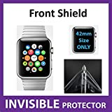 Apple Watch iWatch (42mm Size) Front INVISIBLE Screen Protector (Front Shield included) Military Grade Protection Exclusive to ACE CASE