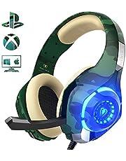 Beexcellent Cuffie Gaming per PS4 PC Xbox One, Noise Cancelling Auricolare con Microfono e Controllo Volume Jack 3.5mm per Xbox One S, Portatili, Mac, Tablet