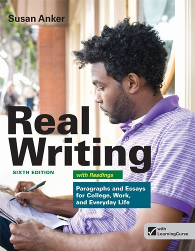 real essays with readings bedford Available in: paperback real essays delivers the powerful message that good writing, thinking, and reading skills are both essential and.
