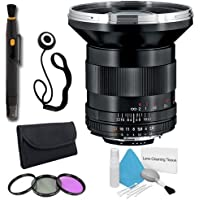 Zeiss 21mm f/2.8 Lens for Nikon Digital SLR Cameras + 67mm 3 Piece Filter Kit + Lens Cap Keeper + Deluxe Cleaning Kit + Lens Pen Cleaner DavisMAX Bundle - International Version (No Warranty)