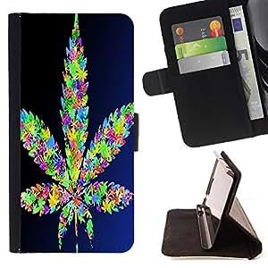 Dragon Case- Mappen-Kasten-Prima caja de la PU billetera de cuero con ranuras para tarjetas, efectivo Compartimiento desmontable y correa para la mu?eca FOR Samsung Galaxy G360 G3608 G3606- Weed weed hipter quote Marijuana Kush Weed