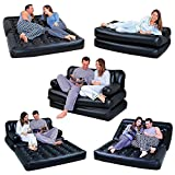 Sky Black 5 in 1 Inflatable Sofa Air Bed Couch with Free Electric Pump Bestway