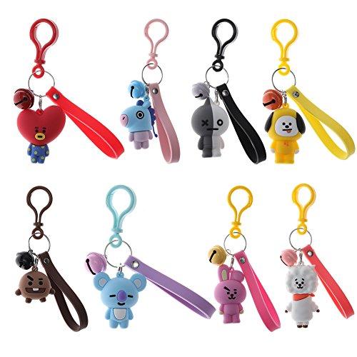 Cartoon Keychain - BKpearl Cute Cartoon Kpop BTS Bangtan Boys Keychain Key Ring Hot Gift for A.R.M.Y (BTS-10)