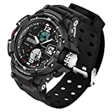 Kid LED Watch Child Boy Girl Sport Multi Function Analog-Digital Waterproof Electronic Quartz Watches-Black