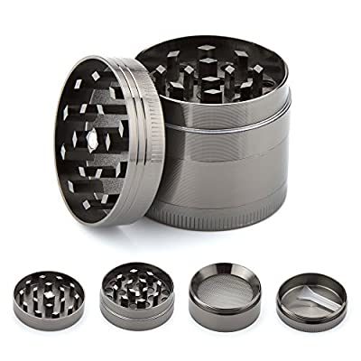 icxox Herb Grinder with Sifter & Magnetic Top & Pollen Catcher - 4 Pieces Zinc Alloy … from Zhuhai Xiaoyuren Technology LLC.