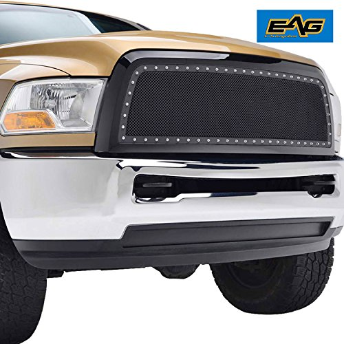 EAG Rivet Stainless Steel Wire Mesh Grille for 2010-2012 Dodge Ram 2500 / (2500 Grille)