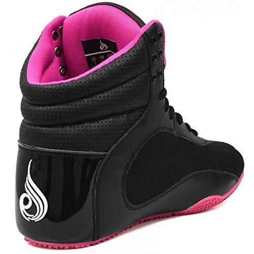 Ryderwear Damen Schuhe D Maks SchwarzPink Bodybuilder Boots