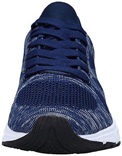 Deporte Zapatos de KOUDYEN para Gimnasio Casual Unisex Mujer Running Sneakers Azul Hombre Zapatillas xEEHrRYWn1