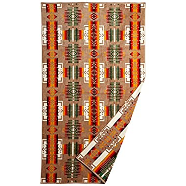 Pendleton Oversized Jacquard Towel, Chief Joseph, Khaki