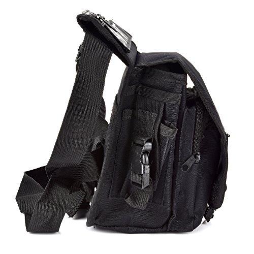 Fontic 15x13x28cm Multi-funktion Wasserdicht Hüfttasche Beintasche aus Nylon 600Dx900,Sport Taktische Airsoft Militär Tropfen Bein Schenkel Bag Dienstprogramm Gürtel Tasche Beinbeutel Schwarz