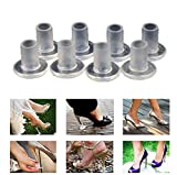 Ewandastore 20 Pairs High Heel Protectors Shoes Stopper Covers Walk Safely on Grass High Heels Shoe Covers-Best for Weddings Outdoor Parties,Clear