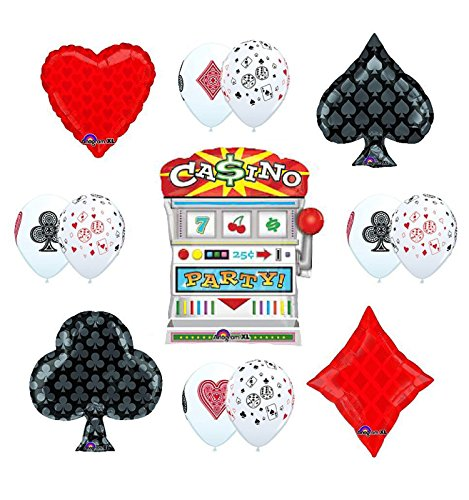 - CASINO NIGHT Jackpot Slots Party Supplies and Balloon decorations